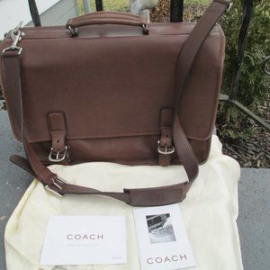 COACH  Brown  Leather Laptop Briefcase  5310